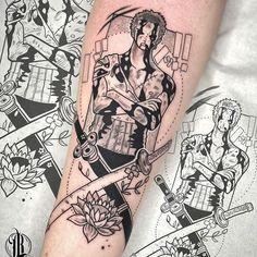 Manga Tattoo, O Tattoo, Anime Tattoos, One Piece Tattoos, Love Tattoos, Body Art Tattoos, Zoro One Piece, One Piece Anime, Tattoo Finder