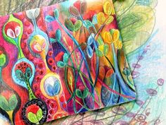 Art journal page by Peony and Parakeet. Read about how to add chaos to improve your art! Looks like a good site!!!!!!!!!!!