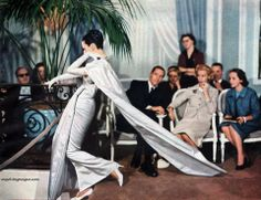Dovima, Christian Dior Salon, Paris 1956