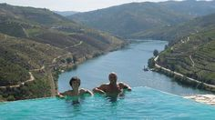 The Douro River: The infinity pool at winery Quinta do Crasto - Douro - Portugal