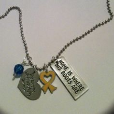Military love necklaces :)    I love to get my mother one of these!