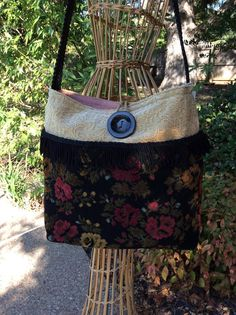 Vintage Tapestry Purse Large Shoulder Bag Tapestry by R2Rfashions