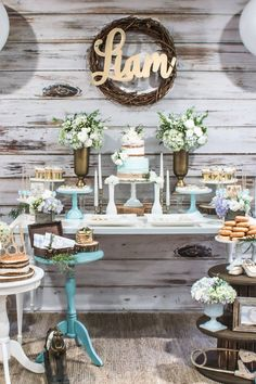 Blue Rustic Chic Baby Shower