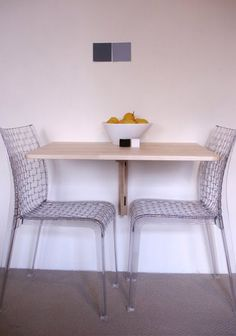Sobuy Wall Mounted Drop Leaf Table Wood Folding Dining