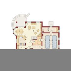DOM.PL™ - Projekt domu DA Dandys 1 G2 CE - DOM DS2-30 - gotowy koszt budowy 30th, Floor Plans, 1, House 2, Floor Plan Drawing, House Floor Plans