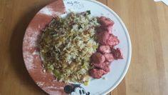 Nasi Goreng with red sate