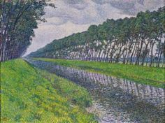 Theo van Rysselberghe, Canal in Flanders (Gloomy Weather), 1894. Oil on canvas, 23 3/4 x 31 1/2 in. Private collection