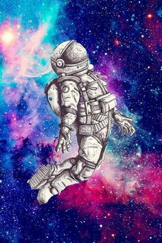 through space – – Galaxy Art Pop Art Wallpaper, Trippy Wallpaper, Wallpaper Space, Galaxy Wallpaper, Space Artwork, Space Drawings, Art Drawings, Astronaut Drawing, Astronaut Wallpaper