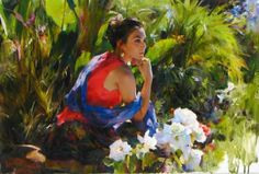 Mikhail and Inessa Garmash - Husband and Wife Team - Romantic Impressionists. For biographical notes -in english and italian- and other works by Garmashs' see: Michael and Inessa Garmash Fine Arts College, Impressionist Paintings, Figure Painting, Beautiful Paintings, Artist At Work, Daydream, Original Paintings, Art Gallery, Romantic