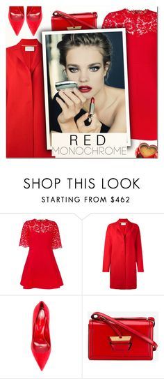 """""""One Color, Head to Toe IV"""" by vampirella24 ❤ liked on Polyvore featuring Valentino, Harris Wharf London, Sergio Rossi and Loewe"""