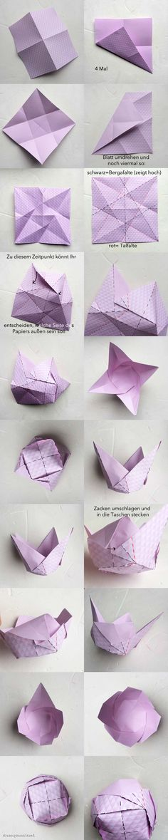 A great little origami tulip cup.  Photo diagrams.  This blog has lots of  other great items to fold.  Osternestchen Steps