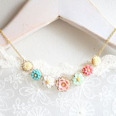 Zoe Necklace 14K Gold filled by NestPrettyThingsShop on Etsy, $42.00