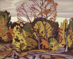 J, Casson - Redstone Lake x Oil on canvas University Of Western Ontario, University Of Saskatchewan, University Of Toronto, Franklin Carmichael, Order Of Canada, Group Of Seven, Canadian Art, Magazine Art, Art Auction