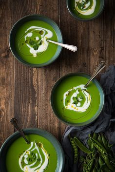 English Pea Soup with Lemon Creme Fraiche | Will Cook For Friends
