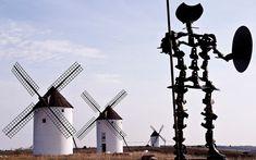 Don Quijote celebra su IV Centenario Santa Ines, Ebro, Centenario, Wall Street, Utility Pole, Magazine, Windmills, Miguel De Cervantes, Majorca