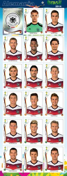 PANINI - Equipo - Alemania - Mundial Brasil 2014