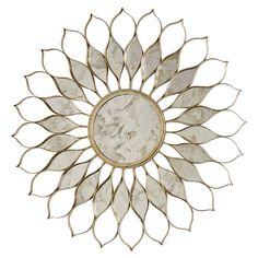 "Worlds Away Daisy Silver Leaf Mirror @Zinc_Door Price=$893 40"" diameter"