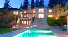 "Bonkers West Vancouver Mansion Has It All At $19.98M  Over in West Vancouver, this eight bedroom, ten bathroom mega home is asking a mere $19,988,000. Just over 14,000 square feet, the south facing home sits on a nearly acre sized lot in the ultra-luxe Altamont neighbourhood of West Vancouver. The home itself was built only five years ago and the brokerbabble claims that the house ""took six joyful years to develop and offers the finest of quality and detail imaginable"