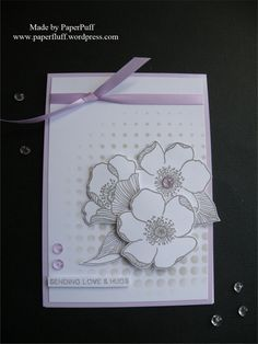 Altenew Adore You stamps and Halftone stencil; Tonic Nuvo Jewel Drops