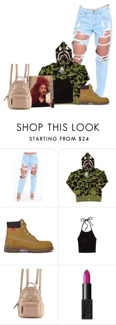 """""""#BapeGear"""" by trillinit ❤ liked on Polyvore featuring A BATHING APE, Timberland, Abercrombie & Fitch, MCM, NARS Cosmetics and Marc by Marc Jacobs"""