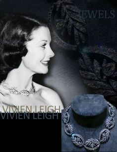 Jewellery - Historic   Important Jewels   History  Antique diamond necklace choker of Vivien Leigh - swags,leafs,flowerd setted in oldminediamonds