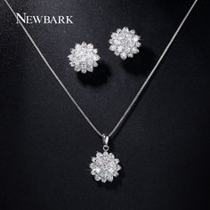 Find More Jewelry Sets Information about NEWBARK Charm 18K White Gold Plated…