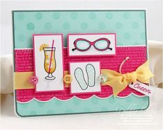 Cheers Card by Debbie Olson for Papertrey Ink (May  2009)