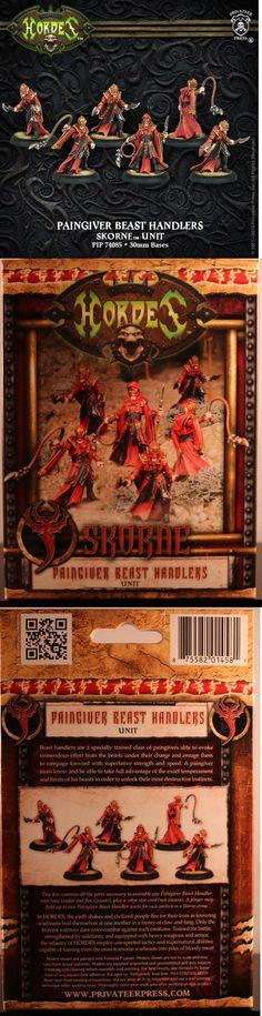 Hordes 168255: Hordes: Skorne: Paingiver Beast Handlers Unit (Pip74085) New -> BUY IT NOW ONLY: $30.95 on eBay!