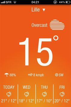 Weather Neue by  Switch Soft Technologies Pvt Ltd  - Category: Weather - Mobile UI / UX Design