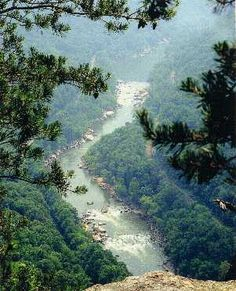 New River Gorge National River in Wild, Wonderful, West Virginia  Another place I've been and want to go back to. Went whitewater rafting here before having kids and it was awesome!!