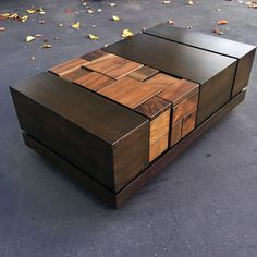 Abaci Dark Walnut II // Coffee Table By Farzan Nemat