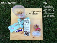 52 Weeks of Mail: Week 26 | Summer Lovin' Box - Use a crystal light container to send #HappyMail