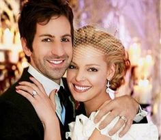 Official wedding photo for Katherine Heigl and Josh Kelley - see it all on Wedding Woof!  http://www.weddingwoof.com/who-else-got-married-this-month-katherine-heigl-and-josh-kelley/#