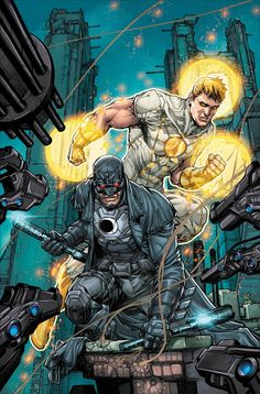 First look at the MIDNIGHTER & APOLLO #1 variant cover by @MrHowardPorter @hificolor