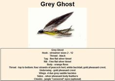Grey Ghost Trout Fly