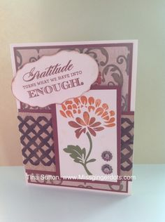 Gratitude FlowerStamp Set- Happy Autumn Paperpack- Huntington Created By Tina Sutton