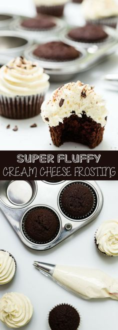This fluffy cream cheese frosting is a simple recipe which involves mixing butter, cream cheese, and powdered sugar. It tastes great and perfect for your favorite cakes and cupcakes. For more delicious baking desserts recipes and ho Winter Desserts, Sweet Desserts, Easy Desserts, Baking Desserts, Baking Recipes, Delicious Desserts, Snack Recipes, Dessert Recipes, Snacks