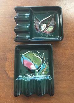 Vintage Mid Century Sascha Brastoff Leaves Personal Ashtray Set    eBay