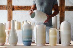 Unika vases. Handmade danish ceramics from Tortus Copenhagen.