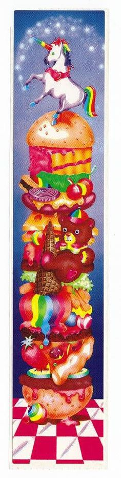 Rare Vintage Lisa Frank Bookmark Sticker by CollectorsWarehouse