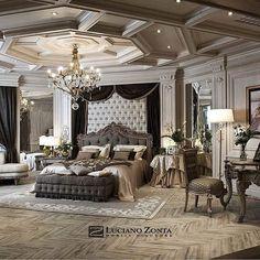 Luxury Bedroom Design, Luxury Rooms, Home Room Design, Master Bedroom Design, Luxurious Bedrooms, Luxury Interior, Luxury Master Bedroom, Interior Design, Fancy Bedroom