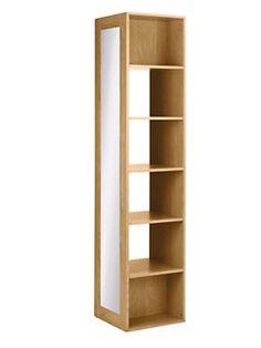 Mirrored shelving unit
