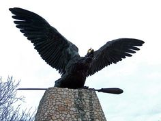 Monument of the Turul (a bird of magyar mithology), Tatabanya,