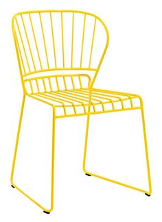 Resö Stackable chair - Metal Yellow by Skargaarden - Design furniture and decoration with Made in Design