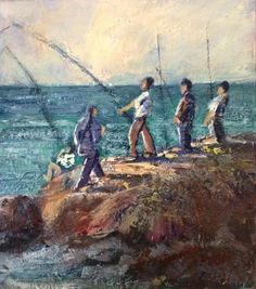 Anton Benzon 'I think I've caught one' South African Artists, Anton, Passion, Painting, Painting Art, Paintings, Paint, Draw