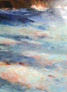 """""""Magma"""". A materic sea, made of colors, emotions and moods painting by Cristina Sammarco"""