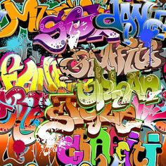 Graffiti Wall 10ft x 10ft Backdrop Computer Printed by GladsBuy