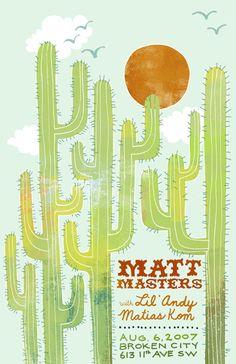cactus band poster