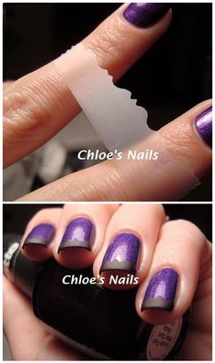 Scotch tape manicure how to - using craft scissors