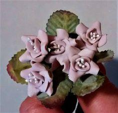 FF-131 Dusty Purple Polymer Clay Roses